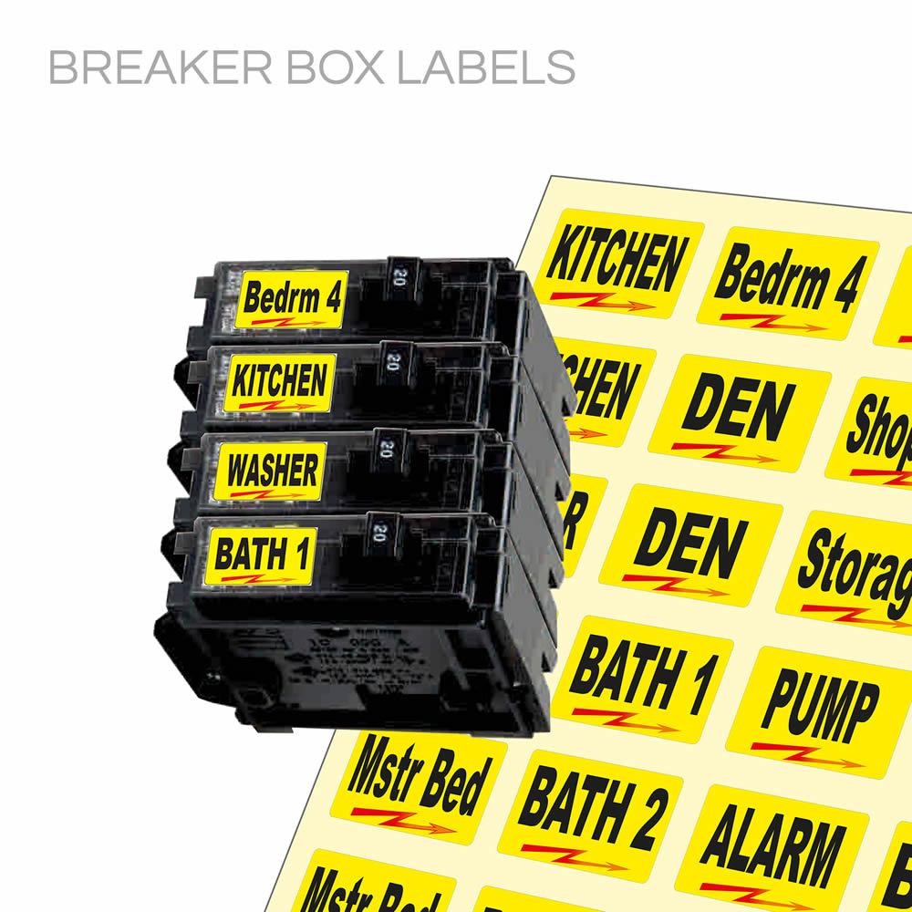 Breaker Box Label Sheet Steel Labels Ebay Stores Circuit Timer